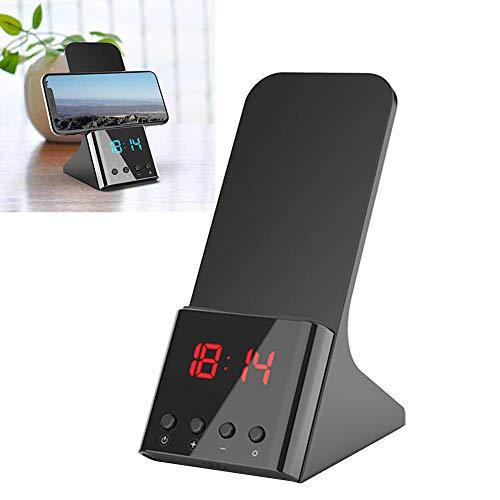 Alarmklocker8B draagbare USB snel met wekker staan draadloos bureau overspanningsbeveiliging tijdweergave oplader instelbare helderheid voor iPhone