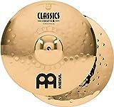 """Meinl 14"""" Medium Hihat (Hi Hat) Cymbal Pair - Classics Custom Brilliant - Made in Germany, 2-YEAR..."""
