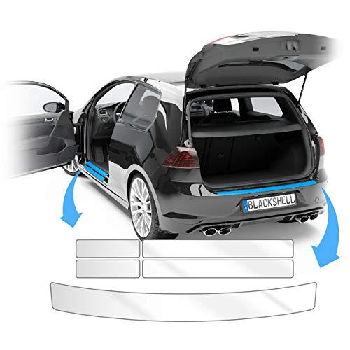 Blackshell® Lackschutz Set passend für Opel Mokka B | Bj. ab 2021 Transparent - passgenauer Ladekantenschutz, Einstiegsleisten inkl. Folierset