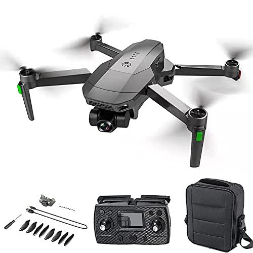 GZTYLQQ Drone 4K HD Cámara de cardán de autoestabilización mecánica de 3 Ejes, GPS 5G WiFi Fotografía aérea Motor sin escobillas, 1200m Control Remoto Aeronave UAV de Larga duración