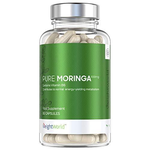 Pure Moringa Oleifera capsules - 1000mg Hooggedoseerde moringa blad poeder capsules - Met Vitaminen en Ijzer - Natuurlijke boost voor het immuunsysteem