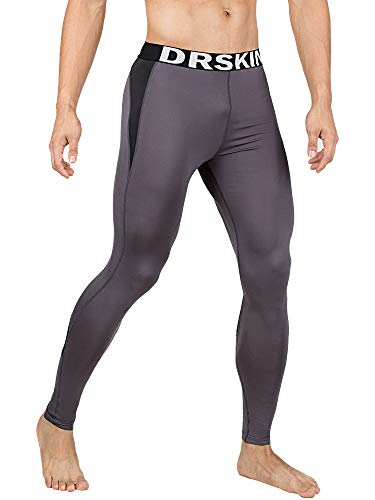 DRSKIN Men's Compression Dry Cool Sports Tights Pants Baselayer Running Leggings Yoga (Came G-B05, M)