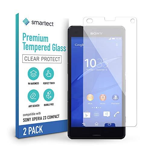 smartect Cristal Templado para Móvil Sony Xperia Z3 Compact [2 Unidades] - Protector de pantalla 9H - Diseño ultrafino - Instalación sin burbujas - Anti-huella