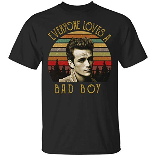 Cool Luke Perry Dylan McKay Beverly Hills 90210 Funny Retro Men's Cotton T-Shirt Black