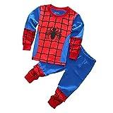 スパイダーマン パジャマ 男の子 長袖 子供服90cm~130cm 綿100% ギフト プレゼント (110)