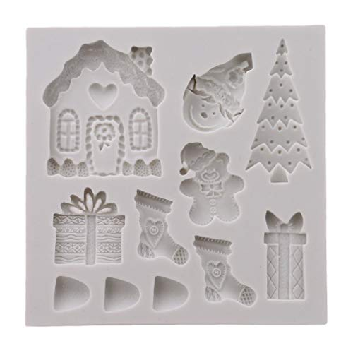 PULABO Silicon Mold Christmas DIY Chocolate Handmade Cake 3D Clay Resin Removed Soap Fruit Cake Model Cake Decoration Tool Safetysafety