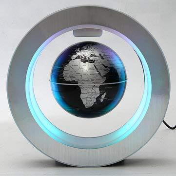ExcLent Led Elektronische Magnetische Schwimmende Globus Levitation Decor Planet Erde Karte Geschenk - Schwarz