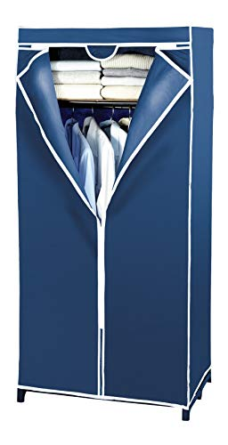 WENKO Armadio Air con ripiano - TNT traspirante, Polipropilene, 75 x 160 x 50 cm, Blu
