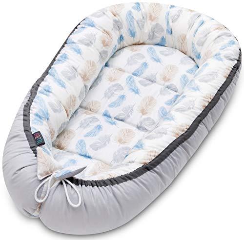 Baby Nest Baby Pod Babykissen Kokon Babybett Neugeborene Schlafkapsel Reisebett Kinderbettmatratze Kleinkind Tragbares Bett Neugeborene Liege Hypoallergene atmungsaktive Baumwollschaummatratze