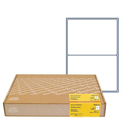AVERY Zweckform 600 Versandetiketten Art. 8018 (199,6 x 143,5 mm (A5) Adressetiketten selbstklebend für DHL und Hermes, Versandaufkleber, 3655, 300 Blatt, für alle Drucker)