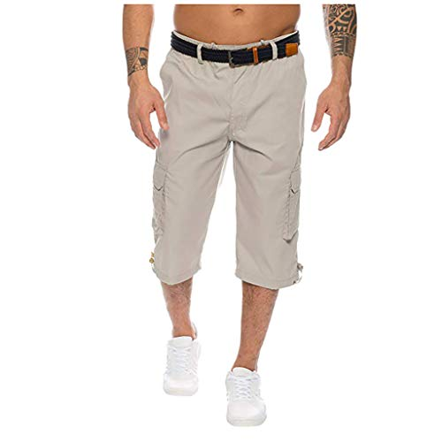 hahashop2 Herren Cargo Short Freizeit Shorts Jogginghose Sweatpants Kurze Oder Lange Hose Neue Multi-Pocket-Tooling-Shorts für Herren