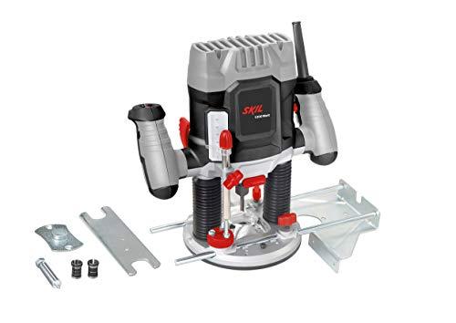Skil Oberfräse 1841 AA (mit Gasgebeschalter und Tiefeneinstellung, optimale Kontrolle; 1200 W) F0151841AA