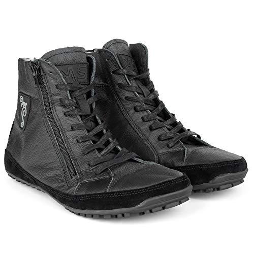 Magical Shoes Damen Barfuß Schuhe I Barfußschuhe für Frauen Winter I wasserdichte | Stiefelette gefüttert | Leder I Gr. 39, Schwarz I Alaskan X
