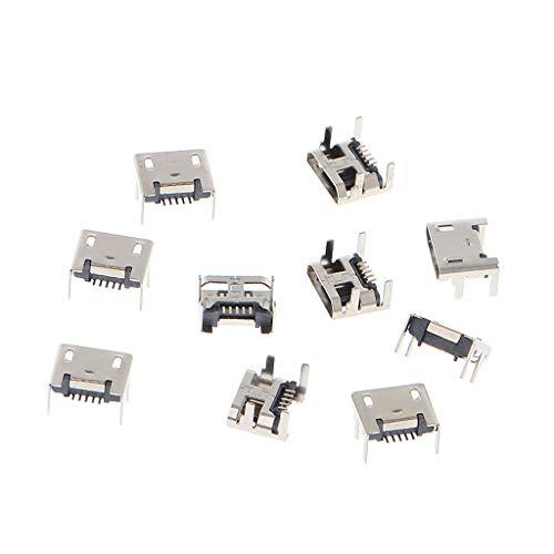 Micro-USB Typ B 5-polige Buchse SMD, 4 Beine, 90 Grad, 10 Stück