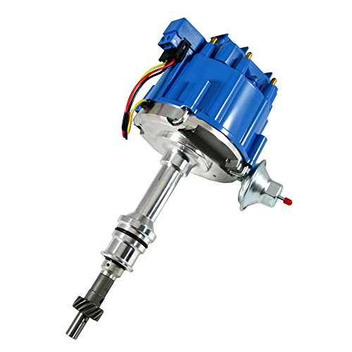 Assault Racing Products 1035113 for Ford Small Block One Wire HEI Blue Cap Distributor 50k Volt Ignition Coil SBF 351W