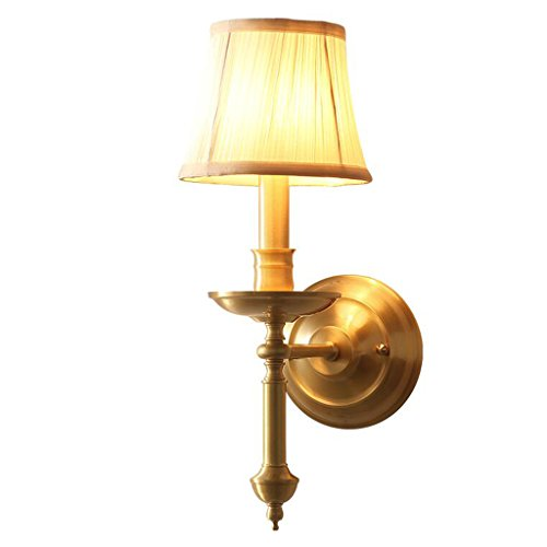 CKH Copper American Country chambre lampe de chevet lampe de miroir simple salon unique allée murale