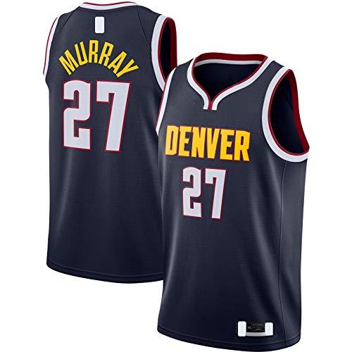 XIAOJI Equipo uniforme de baloncesto Jersey Jamal Traning Jersey Murray Mesh Denver Top Sin Mangas Nuggets Azul Marino - #27 Swingman Jersey Icono Edition-S