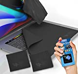 CLEAN SCREEN WIZARD Microfiber Screen Keyboard Imprints Protection, X Large Lint free Keyboard Protectors Cloths Cover Liners and Cleaning for MacBook Pro 15, Laptops 15 in, Bundle 3 pack