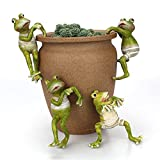 Planter Pot Hanger Decorations, Frog Flower Pot Resin Creative 3D Craft Frog Figurines Climbing Decoration Animal Ornaments for Office Desk Home Garden Pot Decor,4 pcs (4 pcs)