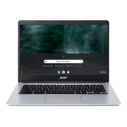 Acer Chromebook 314 CB314-1HT-P2DF Ordinateur Portable Tactile 14 FHD IPS, PC Portable (Intel Pentium Silver N5030, RAM 8Go, 64Go eMMC, Intel UHD Graphics 605, Chrome OS) Clavier AZERTY, Laptop Gris
