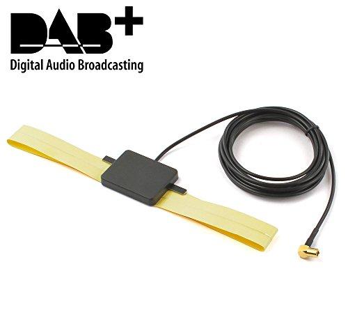Watermark DAB+ Antenne Digital Radio Scheibenantenne DAB-Antenne Klebemontage aktiv (DAB+ Version 1 SMB)