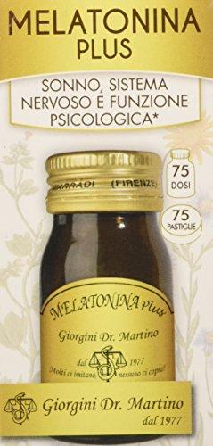Dr. Giorgini Integratore Alimentare, Melatonina Plus Pastiglie - 30 g