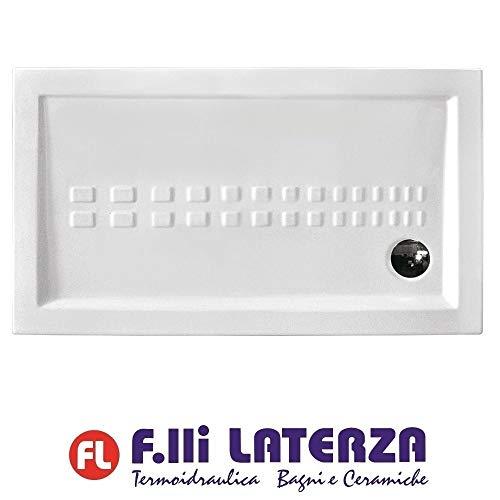 Althea Serie Ito 40842 - Plato de ducha rectangular de porcelana, 170 x 70 cm