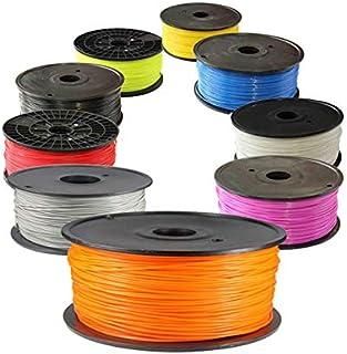 ملحقات الطابعة 1 كجم 1.75 مم PLA خيط طابعة 3D ملون (اللون: برتقالي، الحجم: حر)