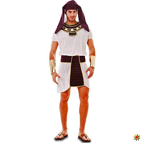 EUROCARNAVALES Costume Egiziano da Uomo Ibrahim, Taglia M/L, Antico Egitto Ramses Faraone Carnevale