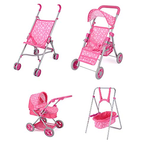 Janoon Dolls Pushchair,Buggy,Pram and Swing Children's GIFT TOYS by Crystals (Doll Buggy)