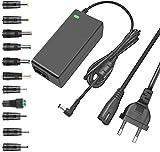 TKDY 24 V 2,5 A AC DC Adapter Fuente de alimentación de 60 W para LED Strip Light, impresora 3D, monitor LCD, con 5,5 x 2,5 mm y 11 conectores CC, compatible con dispositivos de 24 V 0-2500 mA