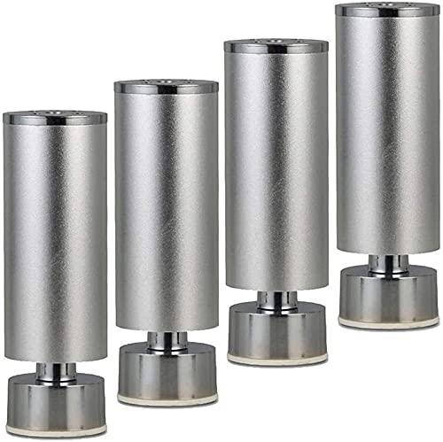 JYV 4 Patas de Muebles, Aluminio de la Pierna de sofá, Patas Ajustables, 8cm-25cm Adecuado para gabinete de TV, Mesa de Centro, gabinetes de baño Piernas de Muebles (Size : 10cm/4in)