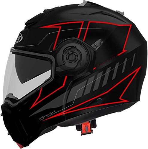Caberg CASCO DROID BLAZE MATT BLACK/RED FLUO M