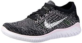 Nike Free RN Flyknit 2018 Women s Running Shoe Black/White-Pink Foam 8.5