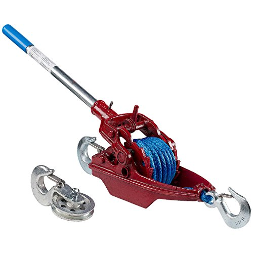 """3 Ton Ratchet Puller With 35' Of 5/16"""" Amsteel Blue"""