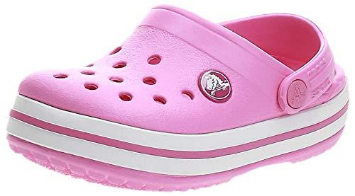 Crocs Crocband Clog K Zoccoli, Bambini, Rosa(Party Pink), 24/25 EU