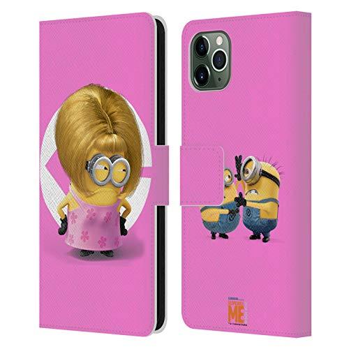 Head Case Designs Oficial Despicable Me Disfraz de Bob Mam Esbirros Carcasa de Cuero Tipo Libro Compatible con Apple iPhone 11 Pro MAX