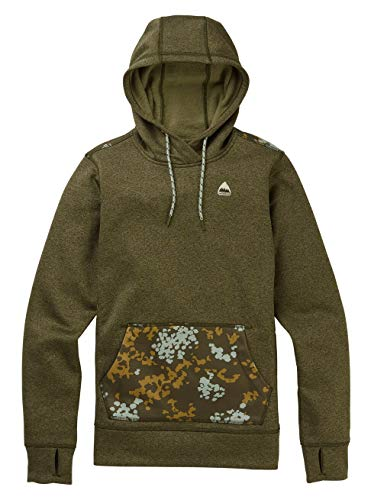 Burton Damen Oak Fleece Pullover, Keef Heather/Wheeler Camo, S