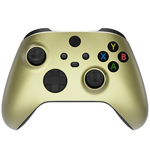 eXtremeRate Champagne Gold Replacement Front Housing Shell for Xbox Series X Controller, Custom Cover Faceplate for Xbox Series S Controller - Controller NOT Included