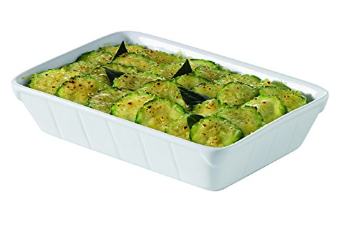 Visiodirect Lot DE 6 Plats A Lasagne Porcelaine SFOOD L190 x lg130 x H40 mm. 40cl