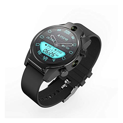 YXJ 4G LTE Smart Watch Phone GPS GPS 3GB 32GB Cara ID Dual Cámara 8MP WiFi WiFi Smart Watch Hombre IP68 Reloj Impermeable,C