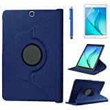 Case for Samsung Galaxy Tab S2 9.7 inch (SM-T810 SM-T813 SM-T815 SM-T819C),360 Degree Rotating Stand Case Smart Protective Cover,with Stylus Pen,Screen Film (Deep Blue)