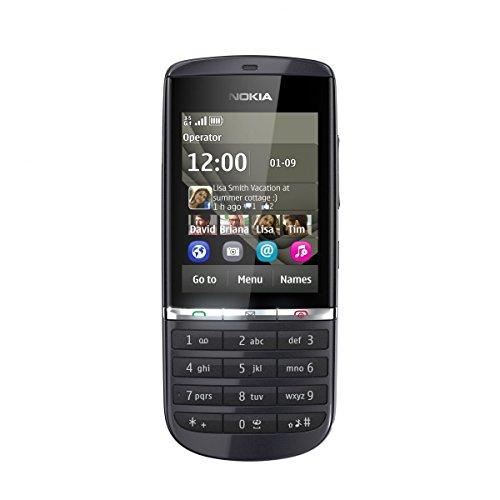 Nokia Asha 300 Handy (6,1 cm (2,4 Zoll) Bildschirm, Touchscreen, 5 Megapixel Kamera) Graphite, EU-Ware