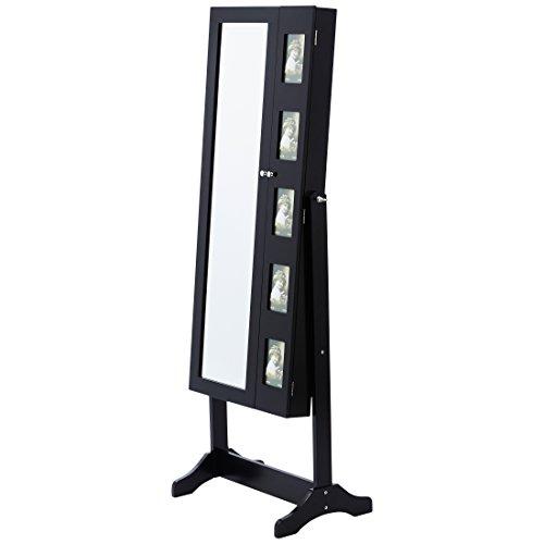 Levivo Armario joyero de 2 puertas, en negro