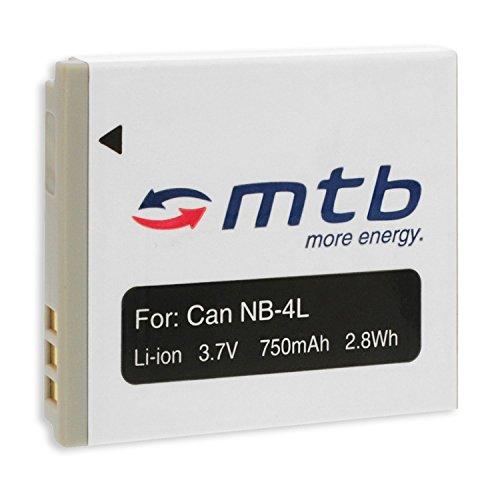 Batteria NB-4L per Canon IXUS 30, 40, 50, 55, 60, 65, 70, 75, 80 IS, 100 IS/IXY/Powershot. – vedi lista!