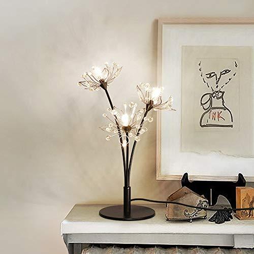 DKEE Lámparas de Mesa Lámpara de mesita de Noche LED Lámpara de Mesa Decorativa Moderna Minimalista Minimalista Lámpara de Hierro romántico Tres Nordic Lámpara pequeña Tres Luces de Colores