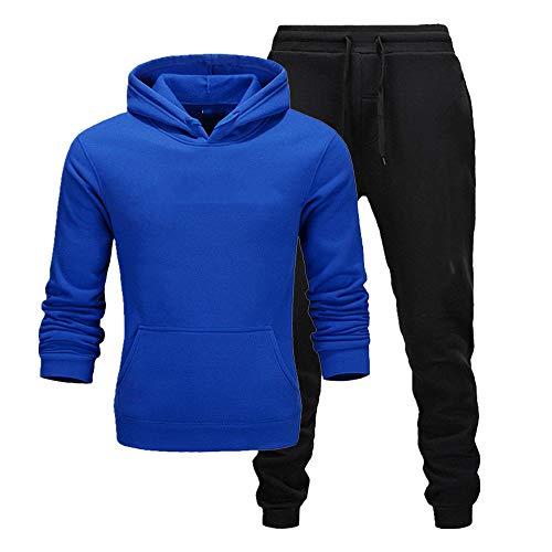 Otoño de los hombres con capucha pantalones de ropa deportiva casual y de las mujeres de la camisa deportiva traje de