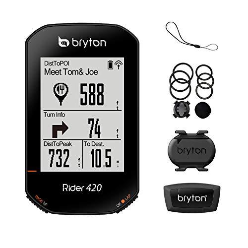 Best Bargain Bryton Rider 420T GPS Cycle Computer (Sensor Bundle)