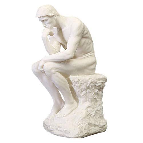 CHEIRS Denker Meditation Statue,griechischen Kunst Sandstein Figur,europäischen Stil Harz Handgefertigt Skulptur,Handwerk Souvenirs(13x16x27cm)