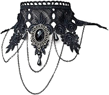 XKMY Women's Gothic Style Memphis Mall Fake Black Bargain Collar Necklace Ch